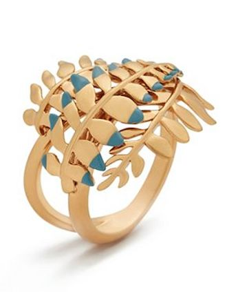 gold fern ring