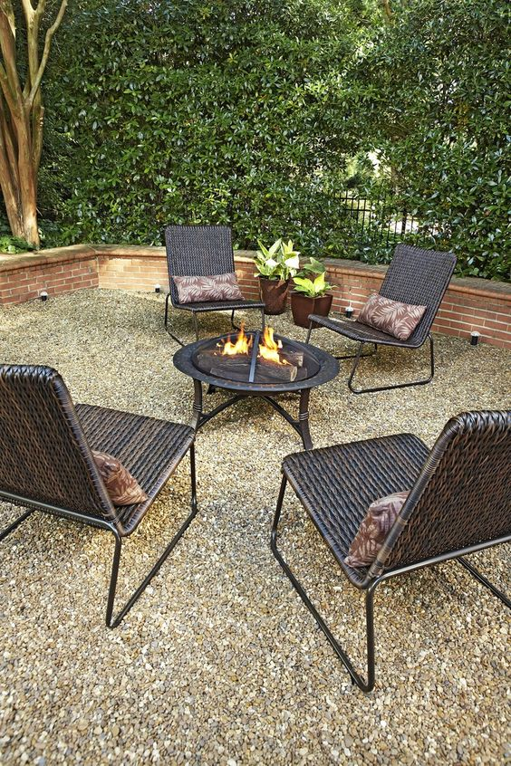 Gather around the fire pit with friends and family to for Gravel around fire pit