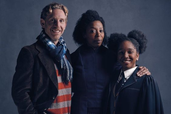 Grown up Ron and Hermione!  Paul Thornley as Ron, Noma Dumezweni as Hermione and Cherrelle Skeete as Rose