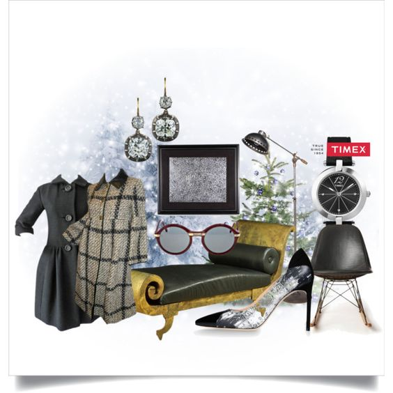 """""""Timex Contest Entry: How will you #WearItWell this holiday season?"""" by gordana-danilov on Polyvore"""
