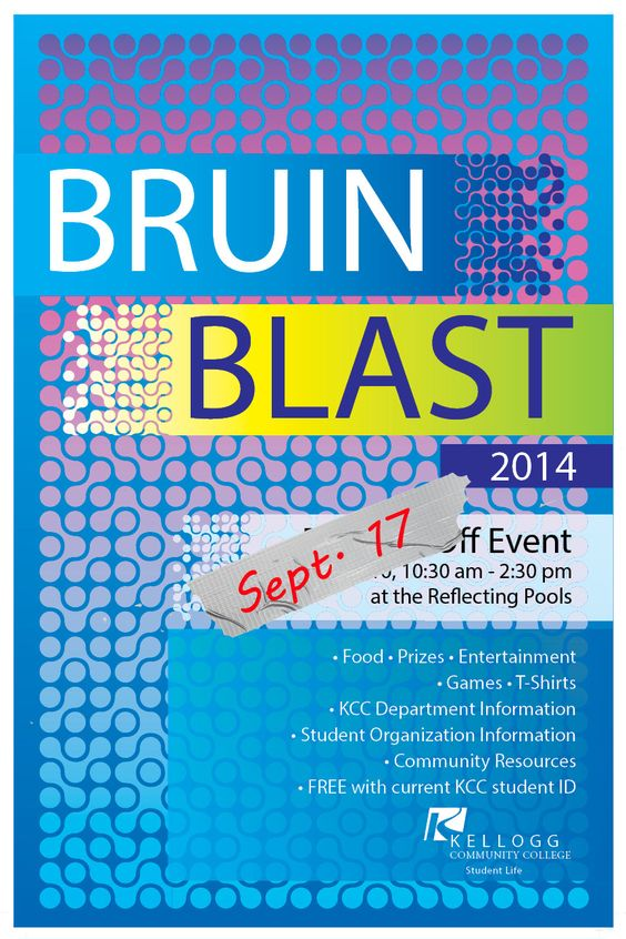 KCC's Bruin Blast welcome back event for students is Sept. 17 on the North Avenue campus! Stop by for free T-shirts, food, entertainment, games, prizes and more! (Student ID required.)