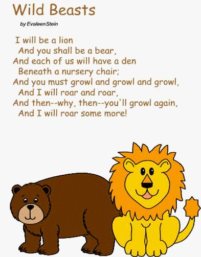 ... poems jokes and more crafts animals lion poem teddy bears bears songs
