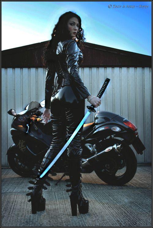 Ninja Rider on Bike HD Desktop Wallpaper Background download