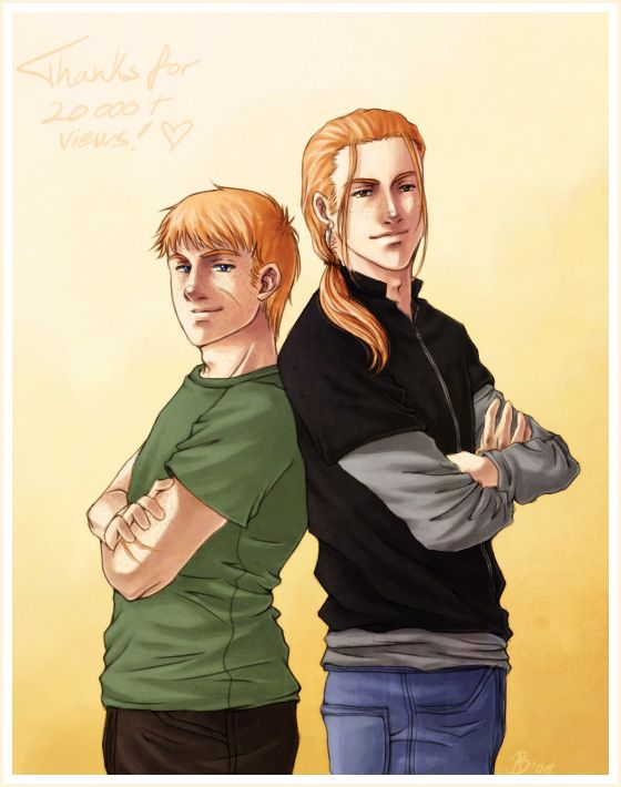 Oldest Weasleys by ~sinister-otaku on deviantART Bill and Charlie