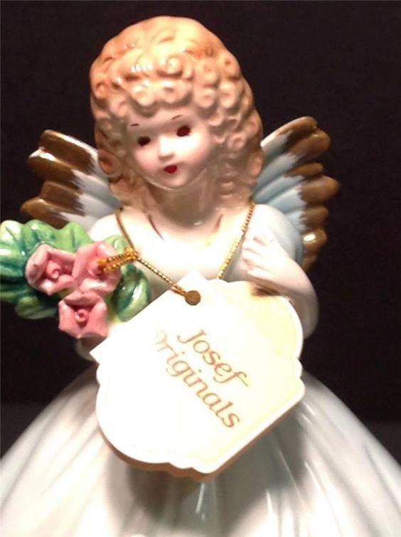 Vintage Josef Originals Birthday Angel Age Sweet 16 Tag Signed w/ Sticker Japan