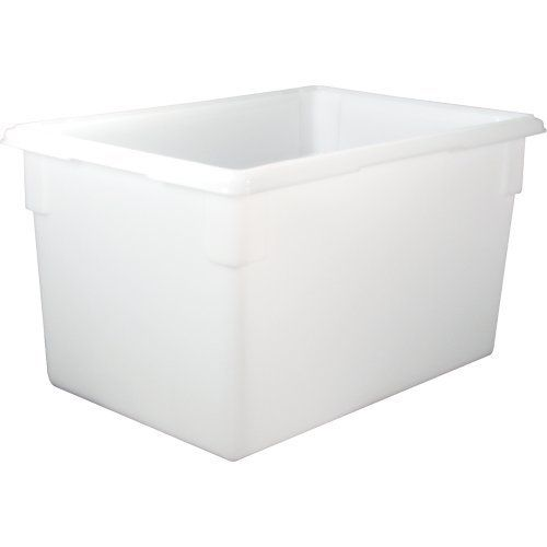 Rubbermaid Commercial Products FG350100WHT 21 1/2 Gallon White Food/Tote Box by Rubbermaid Commercial Products. $35.44. The Rubbermaid Commercial Products FG350100WHT 21-1/2 Gallon White Food/Tote Box is made of durable polyethylene for more economical storage and transport applications. The tote is designed to help reduce food spoilage costs with the available tight-fitting snap-on lids that keep food fresh. The box has date control panels on boxes and lids for easier...