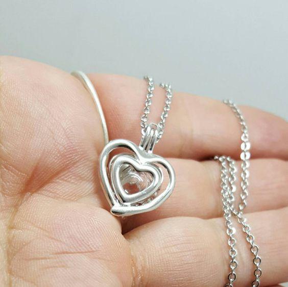 Sterling Silver Double Heart Locket by Thoughtfullkeepsakes