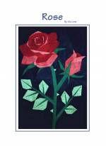 Anleitung Rose (ca. 35 x 50 cm)  als PDF Datei versandkostenfrei!