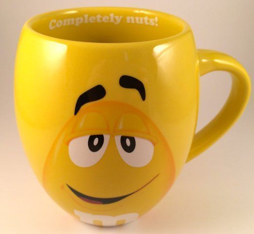 MM's Big Face Ceramic Mugs (Yellow):  A full 19oz. size of mug awaits your drinking pleasure! Each mug color has its own saying.