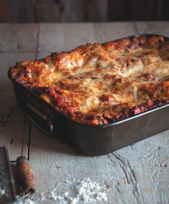 Lasagna Bolognese Recipe With Eggplant | Three Times A Day Cookbook (This…