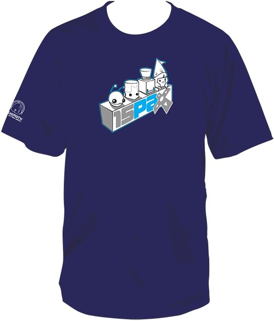 #PAXPrime exclusive tee from The Behemoth booth (3003)! Limited quantities. Come ASAP to get yours!