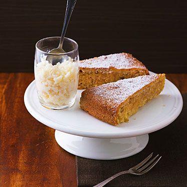 Mandelkuchen mit Mandelgranita Rezept   Küchengötter