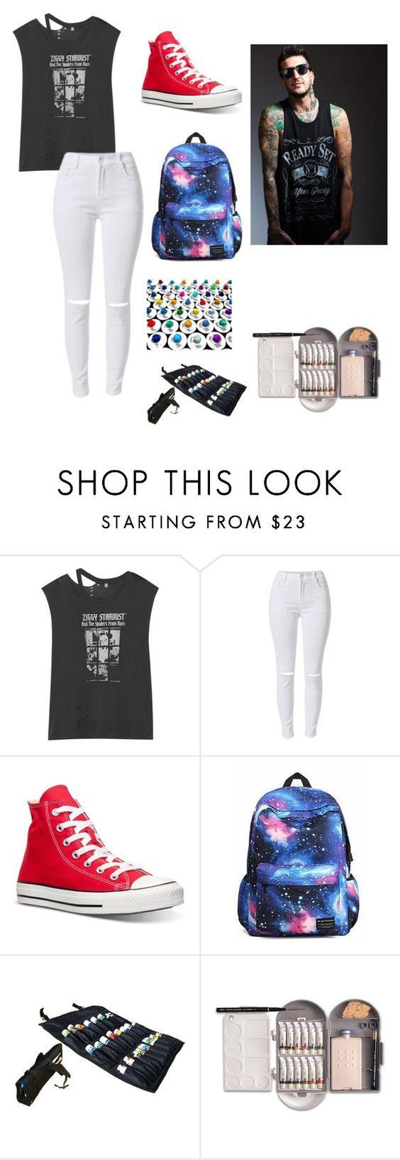 """""""Junior with a Brother"""" by kathrynclifford on Polyvore featuring R13, Converse, women's clothing, women's fashion, women, female, woman, misses and juniors"""