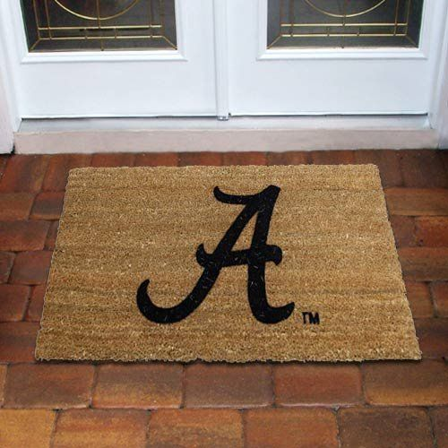 Evergreen Enterprises Alabama Crimson Tide Coir Mat by Evergreen. $29.95. Flocked team logo. Durable vinyl backing. Traps dirt and water. Imported. Fade and skid resistant. Show your NCAA® pride with the Evergreen Enterprises coir mat! It features a flocked team logo and is made from tough, natural coir fibers to keep dirt and debris outside, no matter how many collegiate fans come in!