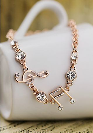 Need this. -Elegant Austria Rhinestones Notes Bracelets: