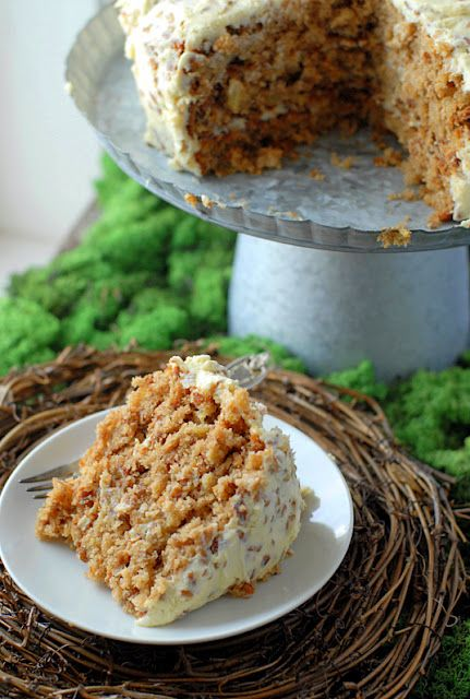Hummingbird Cake: a mix between carrot cake and banana bread topped with cream cheese pecan frosting. Sounds divine!