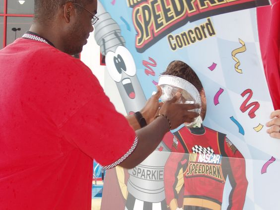 We love our team members because they sure get in the fundraising spirit! As part of our partnership with the American Heart Association, our NASCAR SpeedPark managers got a pie in their face for getting the highest amount of donations!