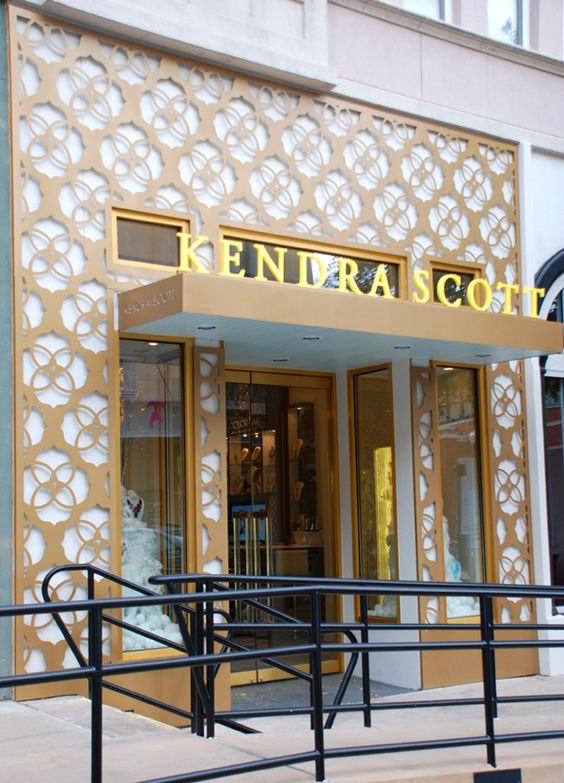The Kendra Scott store front #dallas #westvillage  Love it!  Quatro cut outs!?!?