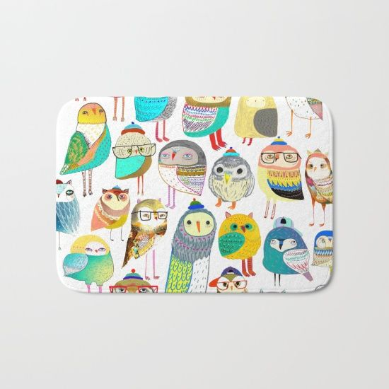 Owl Bath Mat By Ashley Percival.