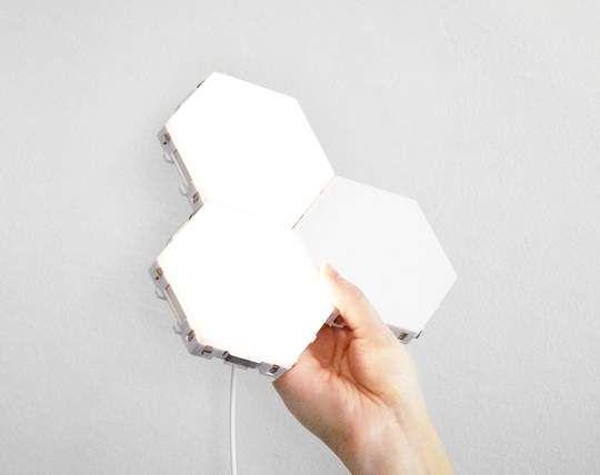 16pc Quantum Magnetic Hexagonal Wall Lamp In 2020 Modern Wall Lamp Hexagon Touch