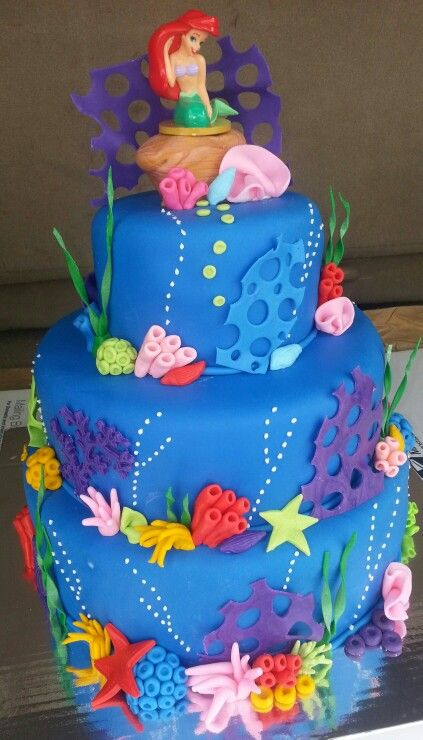 Birthday Cake Ideas Mermaid : Little mermaid cakes, Mermaid cakes and Little mermaids on ...