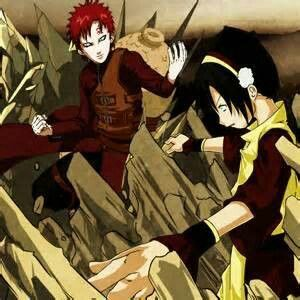 Now we know where she'd learned how ^^ Gaara earth bending