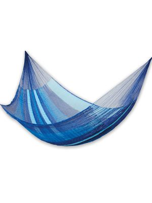 Oh, and so many other color combinations, too!  Decisions, decisions.  Blue Caribbean Hammock (Large Deluxe) by NOVICA on Gilt Home