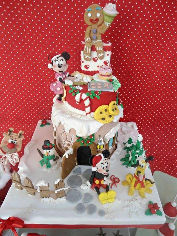 Tarta navideña Mickey