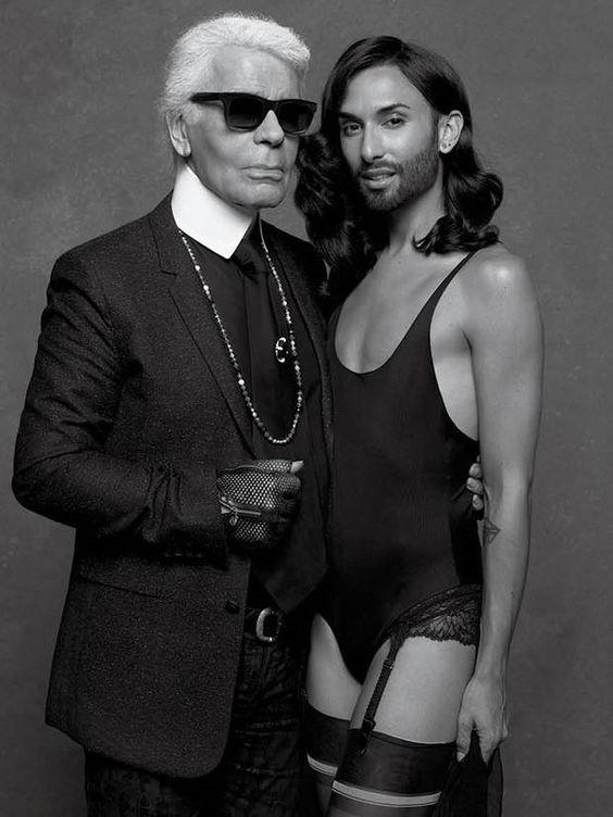 Conchita & Lagerfeld