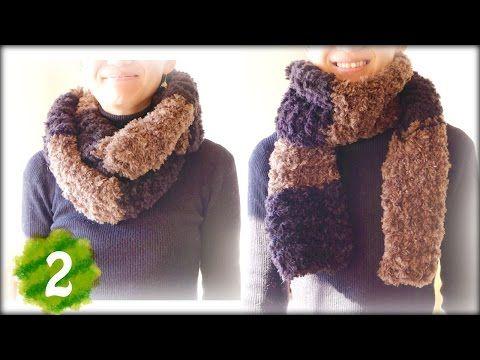 ふわふわもこもこスヌード マフラーの編み方 作り方 2 2段目以降ガーター編み Diy Knit Cowl Tutorial Youtube 뜨개질