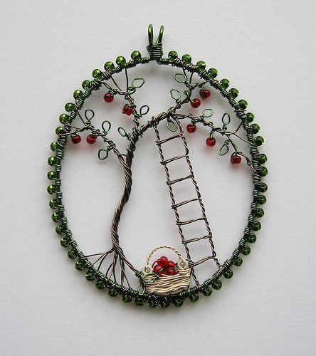Apple Picking Pendant by Louise Goodchild: