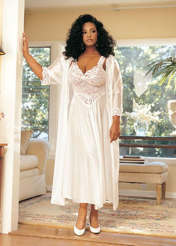 plus size wedding night lingerie heavenly bridal robe
