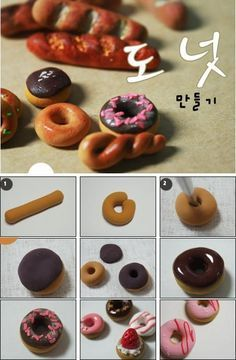 donut polymer clay tutorial - Google Search
