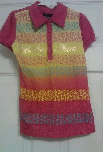 Baby Phat Girlz Shirt Size 8 100% Cotton Short Sleeves
