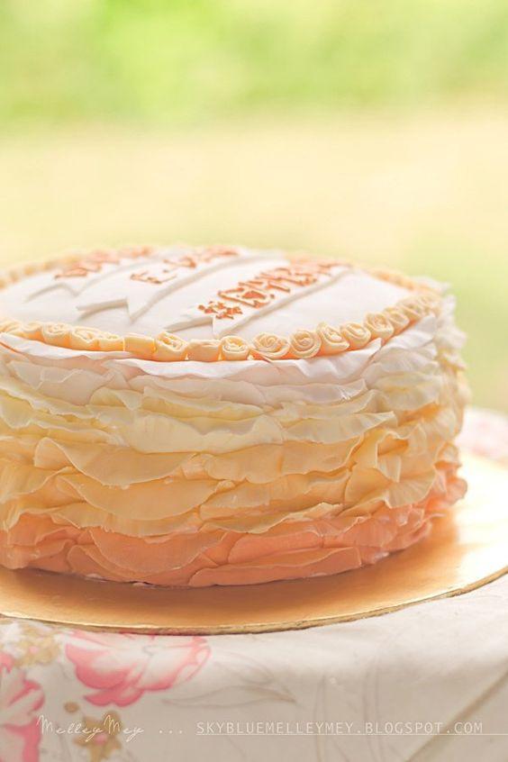 ~ Ruffle Cake... @FoodBlogs