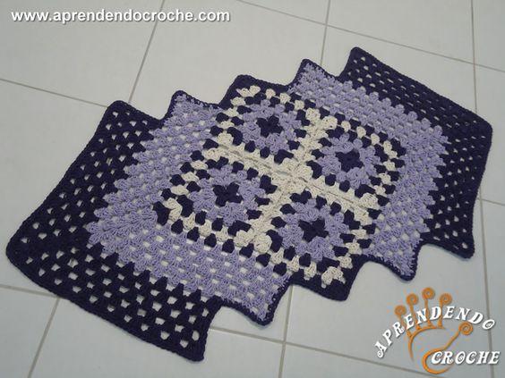 Tapete de Crochê Efeito - Receita de Croche com o Passo a Passo no Link http://www.aprendendocroche.com/receitas-de-croche/video-aula.asp?resid=1187&tree=11