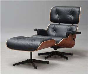 Lænestole - køb og salg af moderne, nyt, antikke og brugte - Charles Eames. Lounge Chair med skammel i Santos Palisander - DK, Kolding, Trianglen