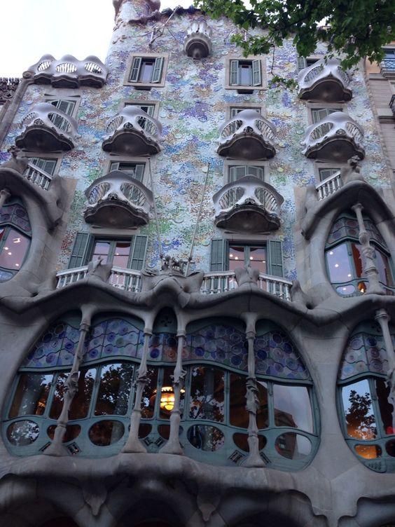Gaudi Plein in Barcelona, Catalonië