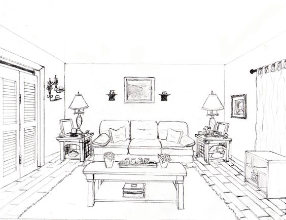 How To Draw A 1 Point Perspective Bedroom Image Gallery