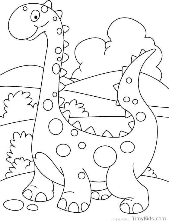 Dinosaur Coloring Page Toddler
