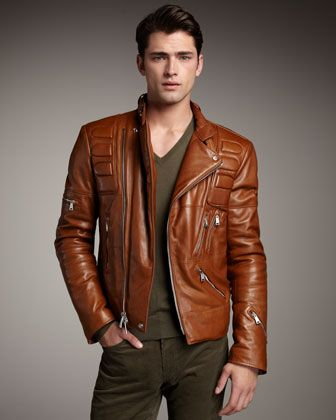 Ralph Lauren Black Label Leather Motorcycle Jacket