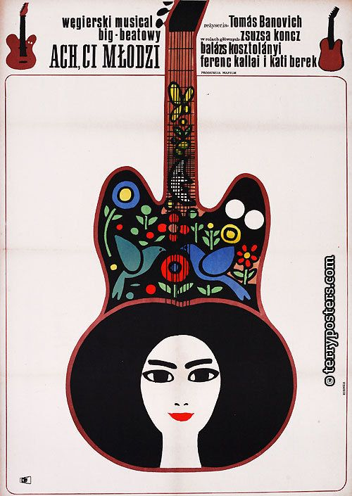 Maciej  Hibner,1968 - POlish poster for film: Hungary