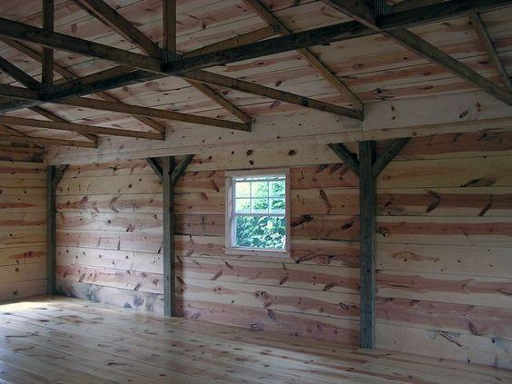 Pole barn interior finishing pole buildings for Aggiunte garage per case in stile ranch