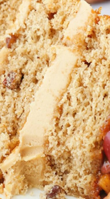 Caramel Apple Pecan Layer Cake
