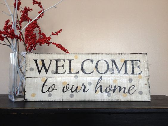 Handmade Welcome to our home pallet wood sign by Cynthiawoodensigns.