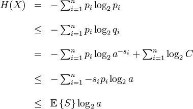 First Shannon' theorem