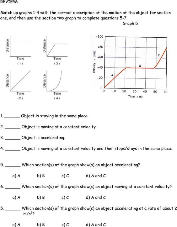 Pin On Printable Worksheet For Kids Position time graph worksheet