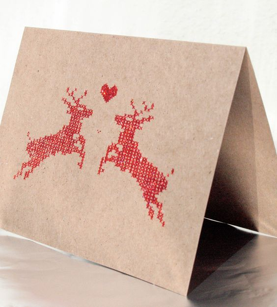 Reindeer Holiday Cards - Pack of 6