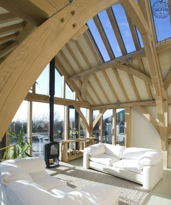 Visit the Carpenter Oak Show Barn. have a chance to meet the team, see the creation process of the timber frame, and get a real idea of the modern home built using traditional craftsmanship.
