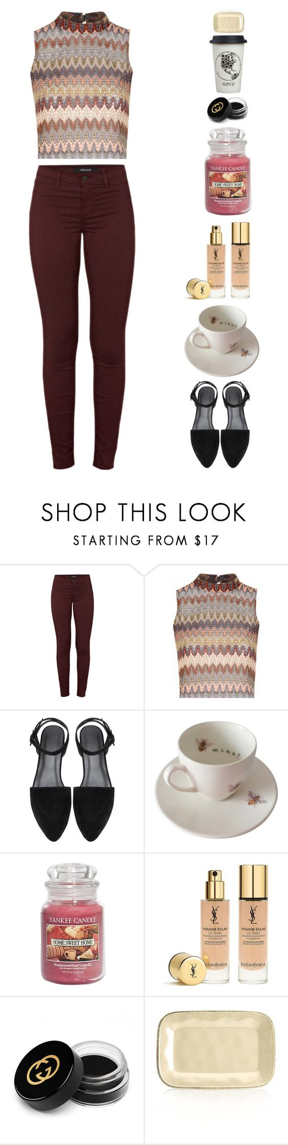 """""""Hands on it"""" by sasha06527 ❤ liked on Polyvore featuring J Brand, Glamorous, Outlandish Creations, Yankee Candle, Yves Saint Laurent, Gucci, Rachael Ray, Natural Life, women's clothing and women's fashion"""